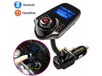 T10 Bluetooth in-car transmitter storage unit and charger(can be linked with your mobile)