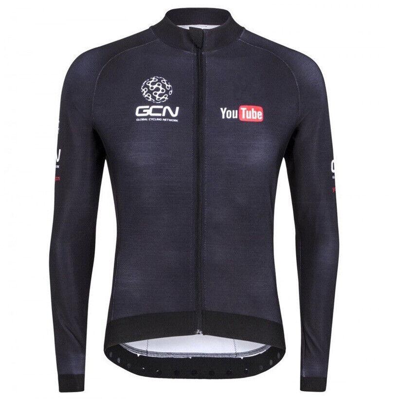 2019 Men Cycling Long Sleeve Jersey Bib Kit Bicycle Bike Rac