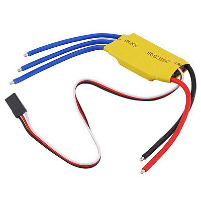 30A Brushless Motor Speed Controller RC BEC ESC T-rex 450 V2 Helicopter Boat LH
