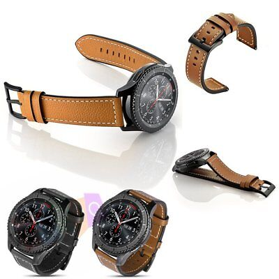 Luxury Genuine Leather Strap Band For Samsung Gear S3 Frontier    Classic 22Mm