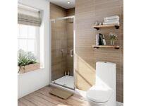 Victoria Plum PSD7002 700 x 1850 x 6mm Pivot Shower Door
