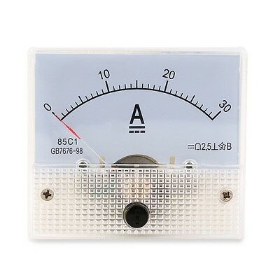 Dc 30a Analog Ammeter Panel Amp Current Meter 0-30a Dc Doesnt Need Shunt U8