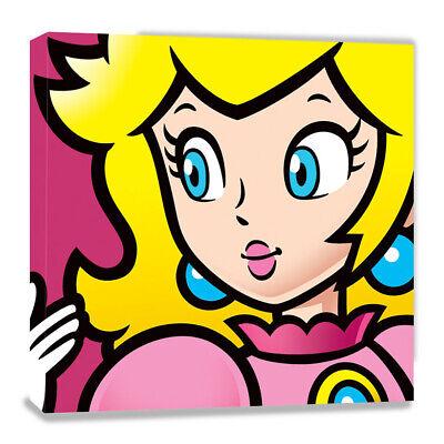 Super Mario: Princess Peach, Nintendo, Leinwand-Druck, 40 x 40 cm