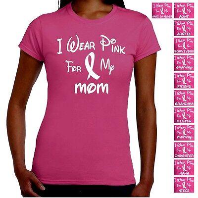 Breast Cancer Awareness Pink Ribbon Survivor Walk Support Junior Tee T Shirt  - Pink Ribbon Walk