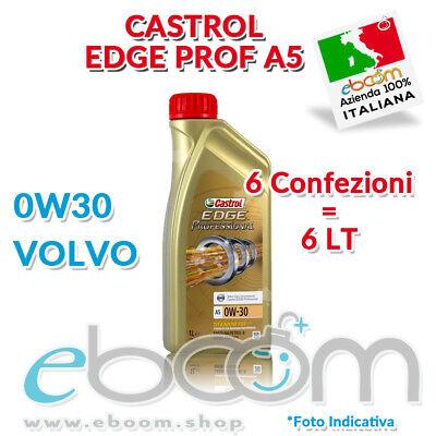 6 litri Olio CASTROL EDGE Professional 0W30 TITANIUM FST A5/B5 MOTORI VOLVO 6x1