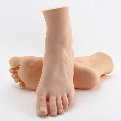 1pair New Womens Lifelike Foot Mannequin Display Shoes Socks Hard Plastic Foot