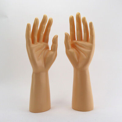 New 1pair Mannequin Hand Arm Display Men Watches Gloves Jewelry Model Stand Skin