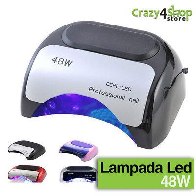 LAMPADA A LED UV CCFL 48W PER RICOSTRUZIONE UNGHIE TIMER NAILART FORNETTO!!