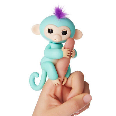 Fingerlings Interactive Baby Monkey Turquoise Zoe Authentic By Wowwee