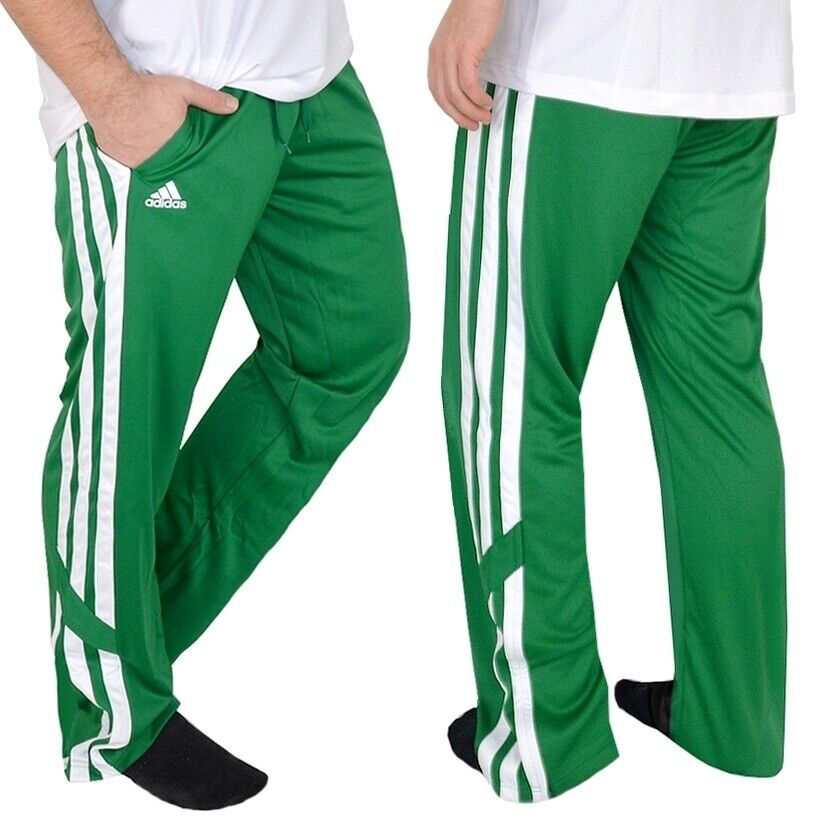 Adidas Herren Trainingshose Basketball Hose Jogginghose Sport Celtics grün weiss