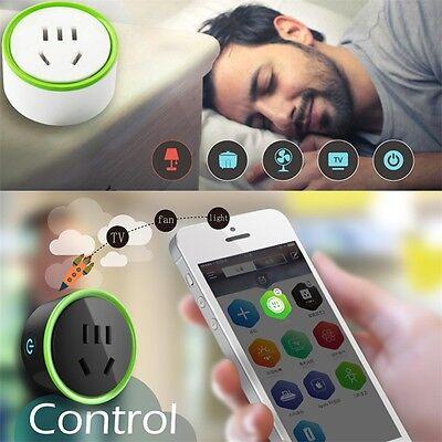 White Mini Smart Wifi Plug Remote Control Socket Power Supply Home Safety JL