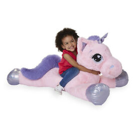"Animal Alley Pink 45"" Unicorn Giant Soft Toy Children Christmas Present New"