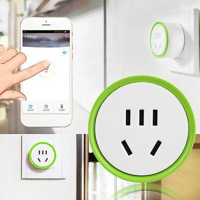 White Mini Smart Wifi Plug Remote Control Socket Power Supply Home Safety UL