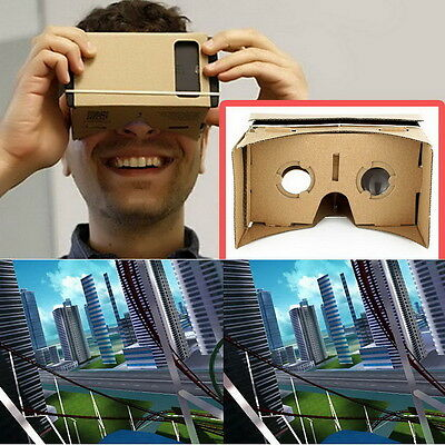 ULTRA CLEAR Cardboard Valencia Quality 3D VR Virtual Reality Glasses Q9