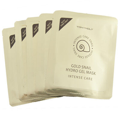 Tony Moly Intense Care Gold Snail Hydrogel Mask     Contains Gold Ingredients