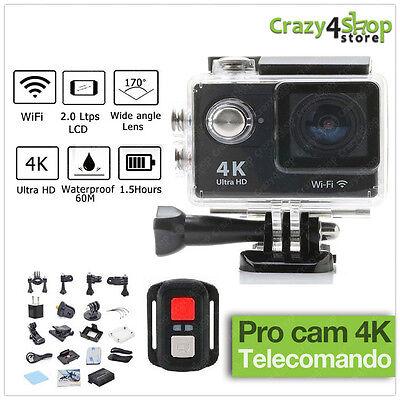 PRO CAM SPORT ACTION CON TELECOMANDO CAMERA 4K VIDEOCAMERA WIFI ULTRA HD 16MP