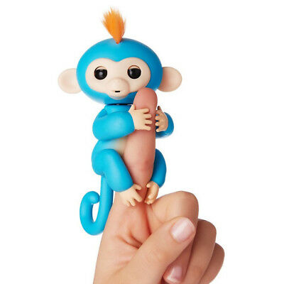 Fingerlings Interactive Pet Baby Monkey Blue Boris Authentic By Wowwee