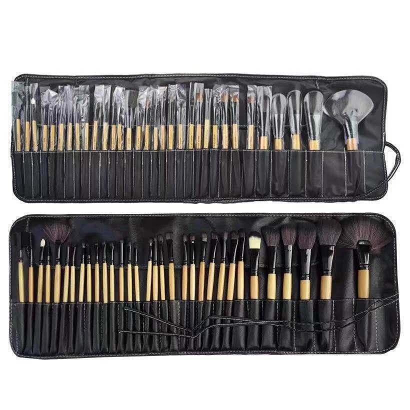 32pcs Professional Makeup Brushes Set with black bag Brushes