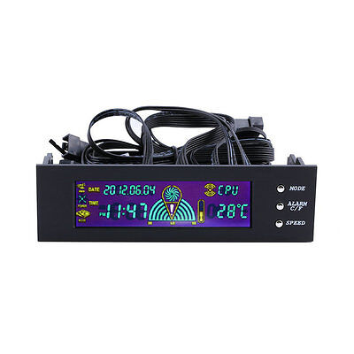 5.25 inch PC Fan Speed Controller Temperature Display LCD Front Panel HP