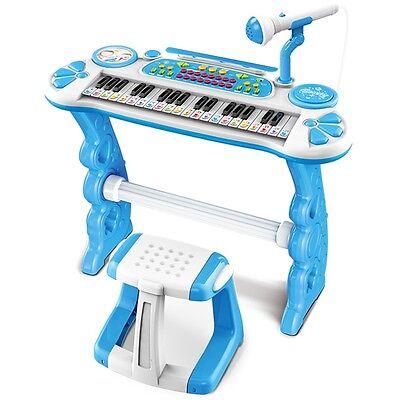 XXL Keyboard mit Hocker blau Kinderpiano Kinder piano Musikinstrument Spielzeug