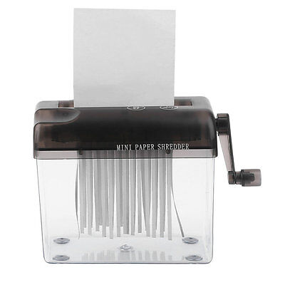 Practical Mini Small Desktop Manual Paper Shredder Hand Cutting For Paper LN