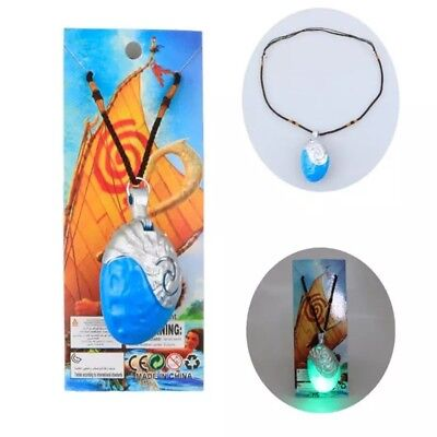 Disney Moana Necklace Replica Heart Of Te Fiti With Music & Light Gift Halloween - Toddlers Halloween Music