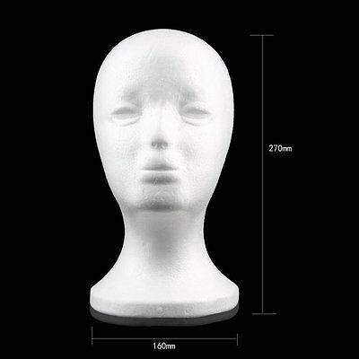 Styrofoam Foam Mannequin Head Stand Model Display Holder Wig Hair Glasses Lu