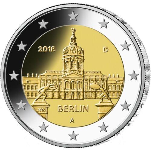 2018 Germany € 2 Euro UNC Coin Berlin Charlottenburg Palace Munich Mint (D)