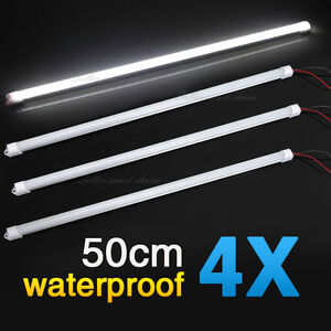4X 50CM 5630 12V LED STRIP LIGHT BARS CAMPING CARAVAN CAMPING BOAT TENT AWNING