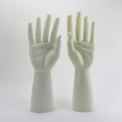 1 Pair Mannequin Hand Arm Display Men Watches Gloves Jewelry Model Stand White