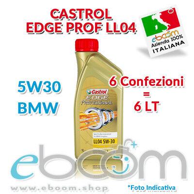 6 litri Olio Motore CASTROL Edge Professional LL04 5W30 TITANIUM LONGLIFE 04 BMW