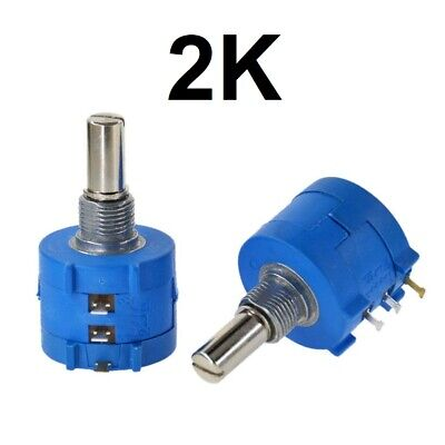 2k Ohm Rotary Potentiometer Pot 10 Turn Variable Dial Resistor