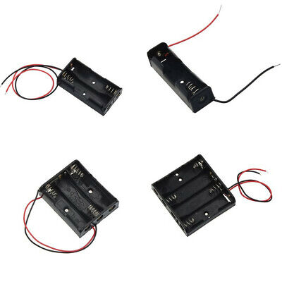 Aa Battery Holder 1234 Aa Cells Case Storage Box With Wire Leads