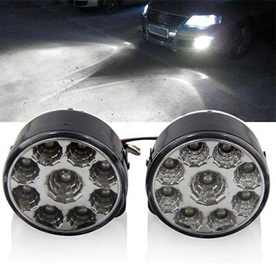 2pcs 9 LED Car Auto DRL Daytime Running Day Driving Fog Light For toyota