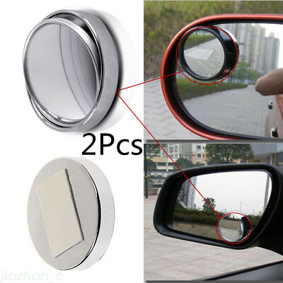 Car Auto 360  Wide Angle Adjustable Convex Rear Side View Blind Spot Mirror