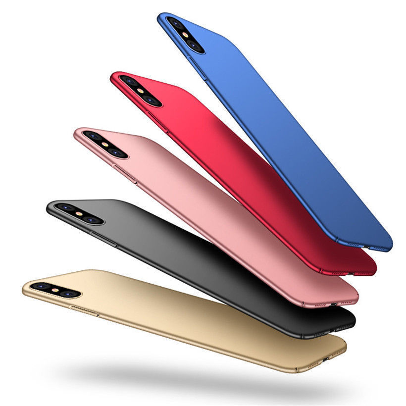 For iPhone Xs XS Max Xr Shockproof Ultra Slim Matte Hard Back Cover Skin Case Cases, Covers & Skins