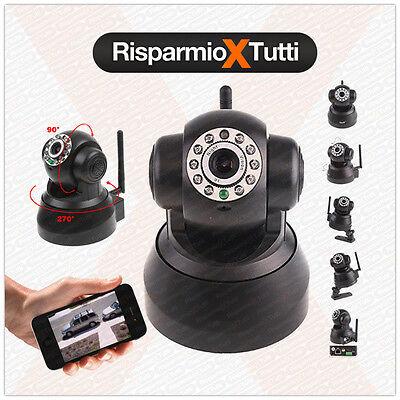 IP Camera motorizzata WIFI TELECAMERA SORVEGLIANZA INTERNO ESTERNO APPLE ANDROID
