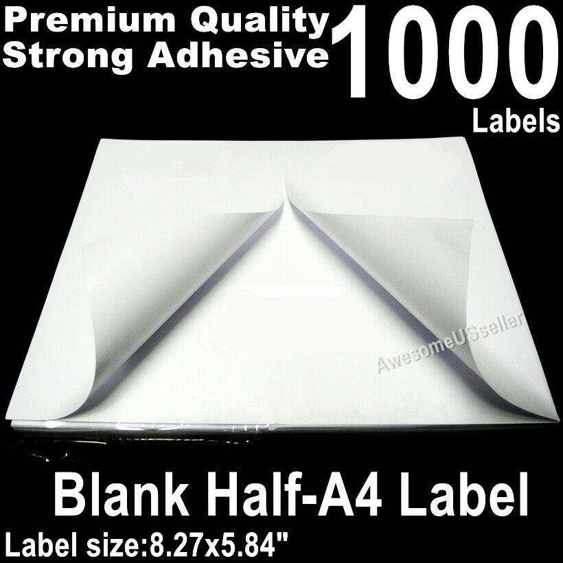 50 Half A4 Labels Self Adhesive Tag Label Sticker Shipping A