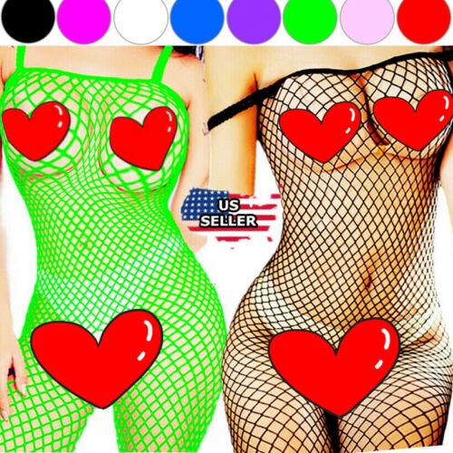 Fishnet Body Stockings Bodysuit Babydoll New Sleepwear Women