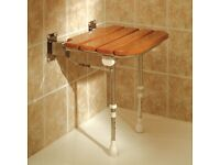 AKW High Quality Wooden Folding Shower Seat
