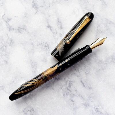 Namiki Nippon Art Golden Pheasant Maki-e Fountain Pen 14k Gold Fine F Nib