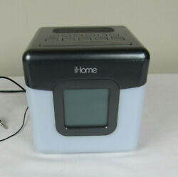 iHome iBT28 Bluetooth USB FM Radio Color Change Alarm Clock Cube Speaker Tested