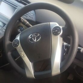 2015 TOYOTA PRIUS HYBRID STEERING WHEEL WITH MULTI FUNCTION BUTTONS *NO AIRBAG*