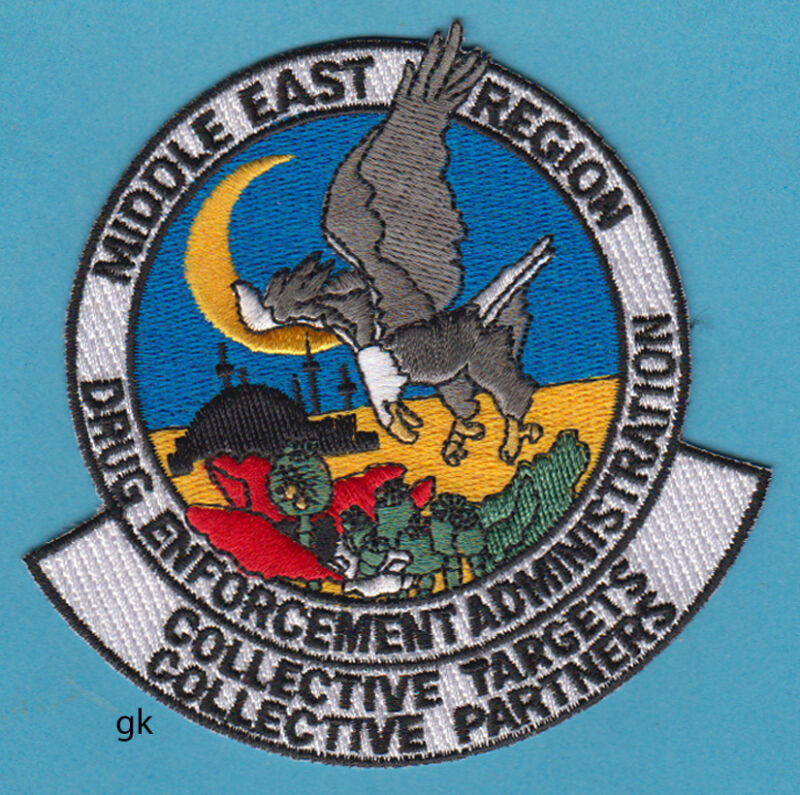 DEA MIDDLE EAST DRUG ENFORCEMENT POLICE SHOULDER PATCH