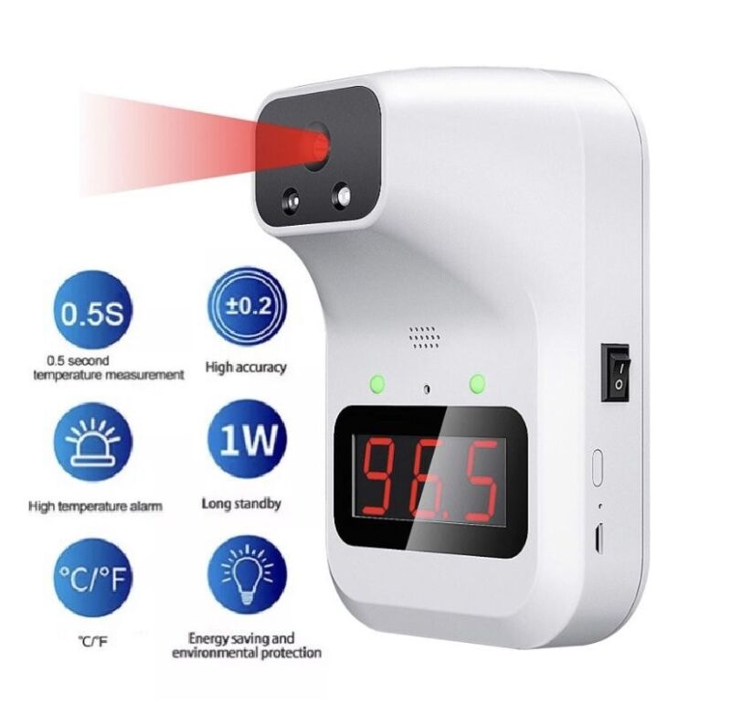 🌟Wall Mount Digital Infrared Forehead Thermometer, 1-Second No-Contact Temp