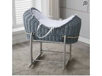 Moses Baby Basket and Rocking Stand Grey Stjnnjng
