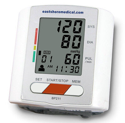 Eastshore Bp211 Wrist Blood Pressure Monitor With New Mwi Technology  Fda Approv