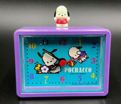 Vintage POCHACCO ALARM CLOCK Sanrio 1994 Battery Operated WORKS! Hello Kitty