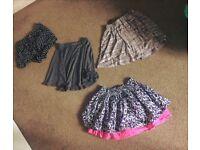 Skater skirts and chiffon shorts