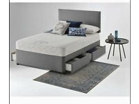 ⭐🆕 SINGLE, DOUBLE, SMALL DOUBLE, KING SIZE DIVAN BED BASES AVAILABLE WITH OPTION MATTRESSES